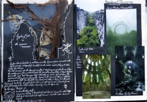 Exploration Page: Abandoned Places (Involves Transparent/Cut-out pages)