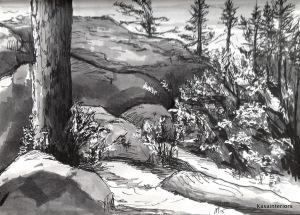Copics drawing, landscape