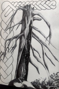 Copics marker, dead tree