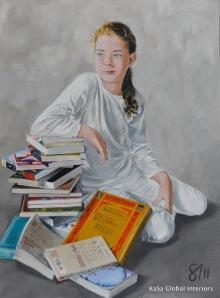 Natasha - a full day's work 2011 Acrylic on Canvas 30x40 inches