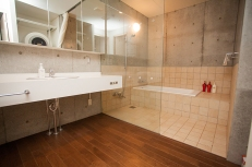 ...this bathroom and ski storage room appears unfinished.