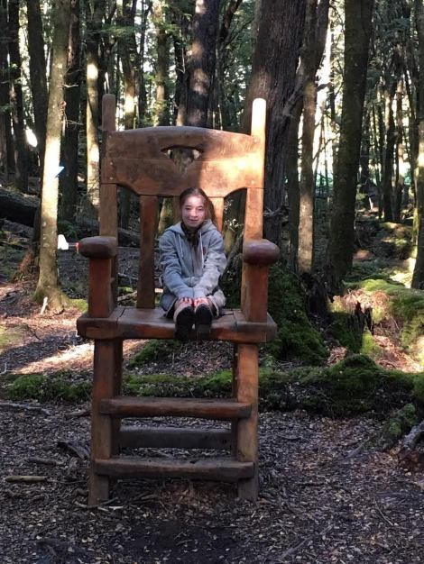 Chiara on hobbit chair