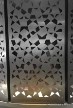 17-wall treatments - lattice metal wall panels - LED strip